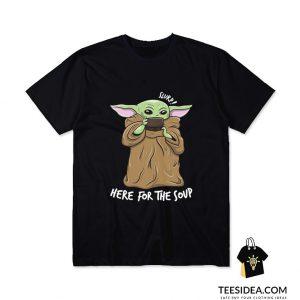 Baby Yoda Drinking Soup T-Shirt