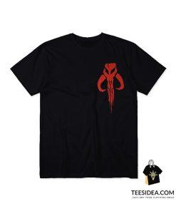 Bantha Skull Boba Fett Red Logo T-Shirt
