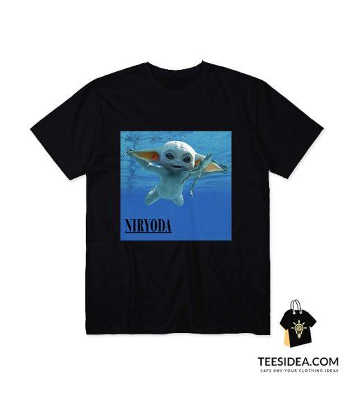 Baby Yoda Nirvana Parody T-Shirt