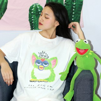 Furby The First Time I Smoked Weed I Died T-Shirt