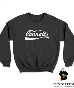 Enjoy Cannabis Coca Cola Logo Sweatshirt