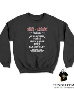 Stay Inside Festival Social Distancing Sweatshirt