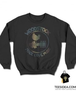 Woodstock Peace Love Music Technicolor Birdie Sweatshirt