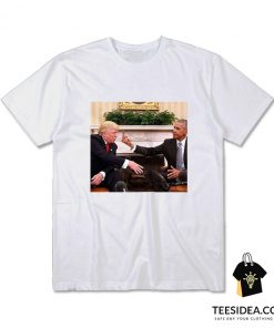 Barack Obama Middle Finger To Donald Trump T-Shirt