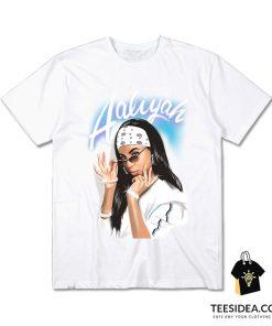 Aaliyah Airbrush Bandana Photo T-Shirt