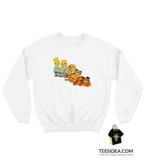 Bart To Garfield Sweatshirt
