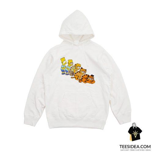 Bart To Garfield Hoodie